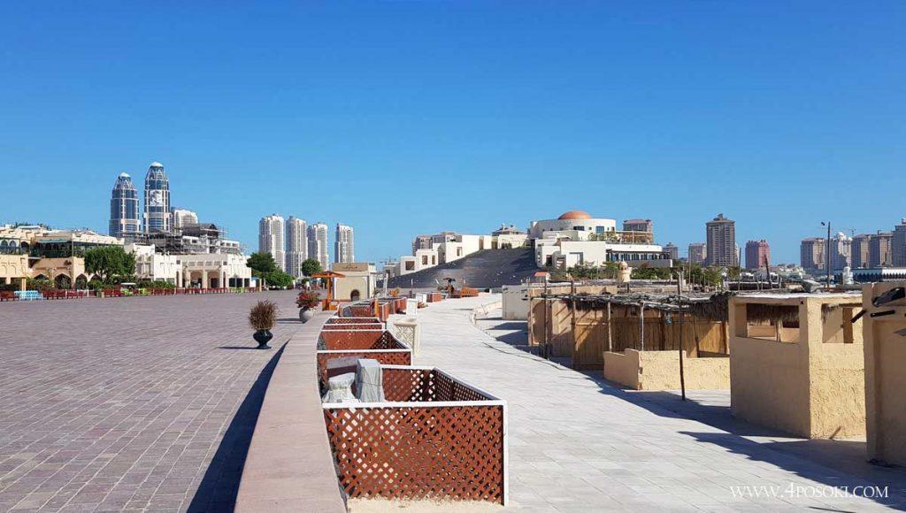 плажът в Доха